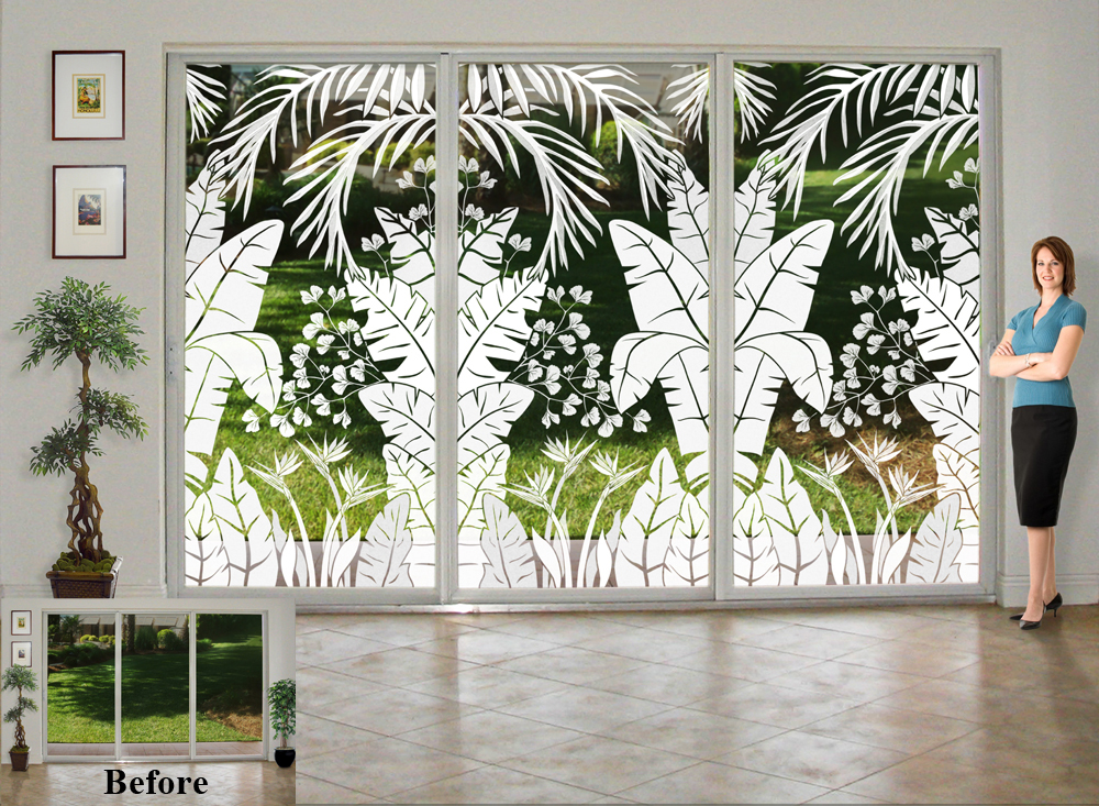 Glass Doors Go Tropical