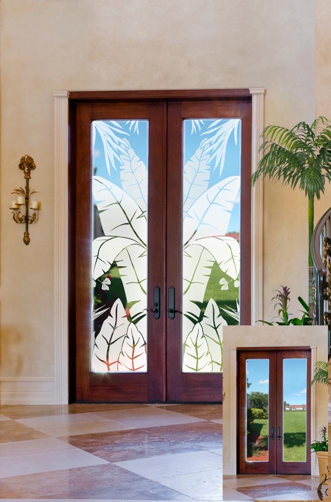 Glass Doors Go Tropical
