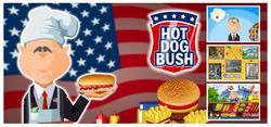 george w bush hot dog game