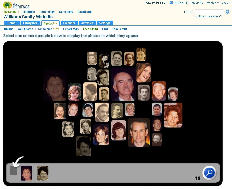 My heritage celebrity face generator