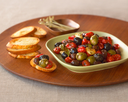 Holiday entertaining is delicious and simple with roasted olives.