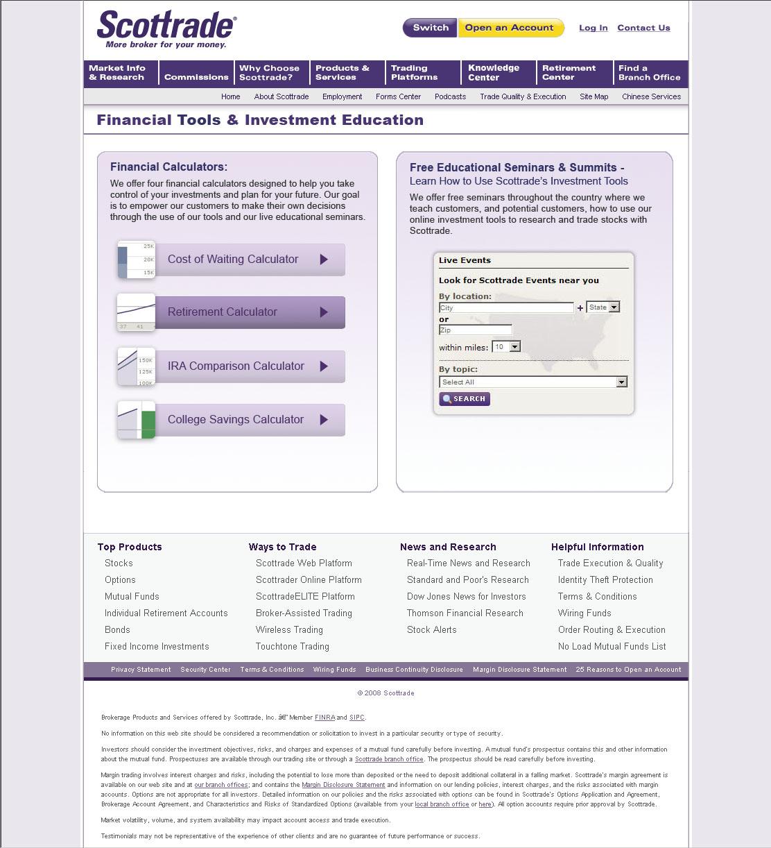 Scottrade options screener