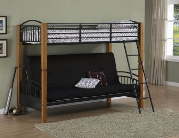 Futon Bunk Bed Canada Country Beddurable Metal And Pine Hardwood Construction By Powell Company