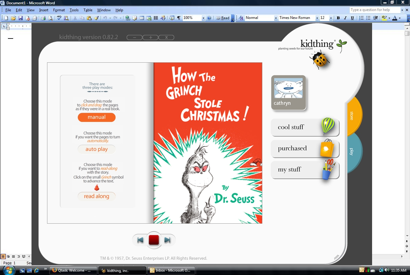 How the Grinch Stole Christmas Makes Digital Debut on kidthing ...