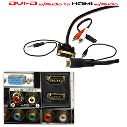 DVI to HDMI with Audio from Advanced Wire Group Corporation (AWG CORP.)