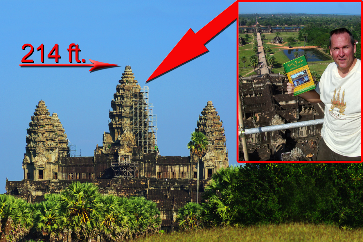 titanic book unveiling at angkor wat on top of angkor wat in cambodia