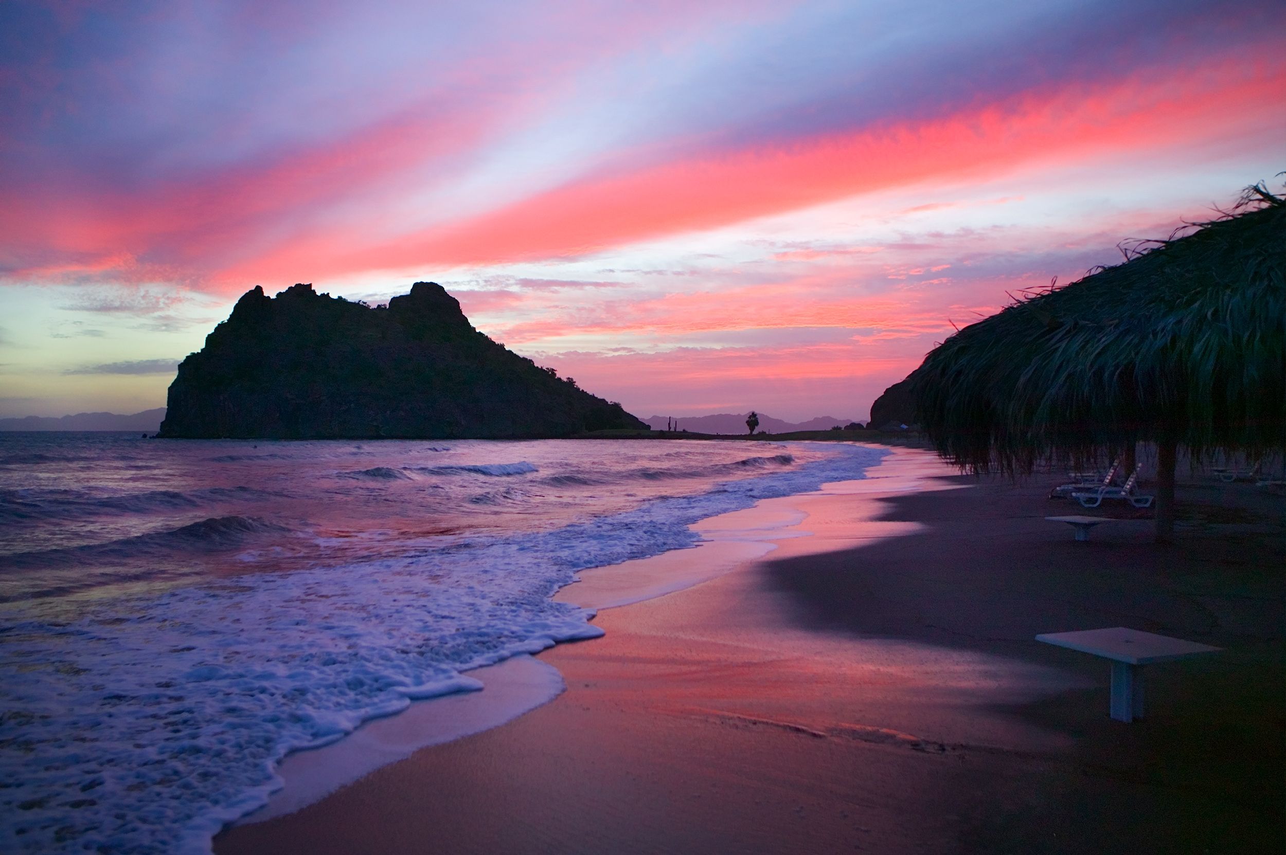 Pink Beach Sunset