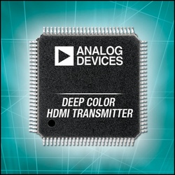 Deep Color HDMI Transmitter with CEC Reduces HDTV Entertainment System Cost and Complexity :  Analog Devices' ADV7510 Deep Color HDMI transmitter with on-chip CEC and software driver speeds certification process and reduces board space by 20 percent.