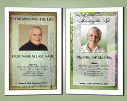 mens and womens funeral program templates