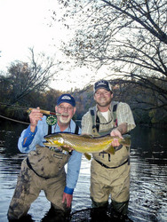 Reel job fishing guides client to record trophy trout for 2008 for Fly fishing guide jobs