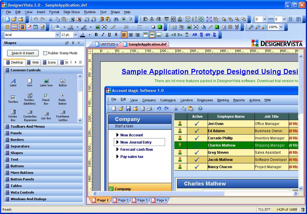 Designervista 2 0 Released The Gui Mockup Prototype