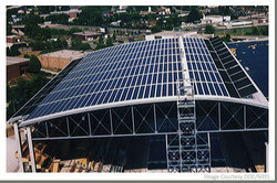 Solar Array on Roof of Facility