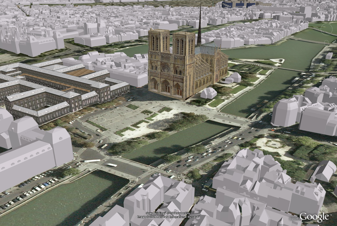 Cybercity 3d Inc Features Paris On Google Earth