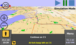 Users can change map display between 2D and 3D.