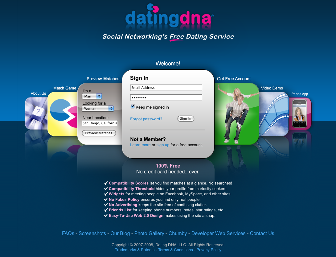 Dating site matches dna