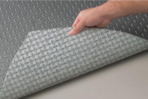 Non Slip Material For Shower Floors : New griptouch vinyl garage flooring value priced non
