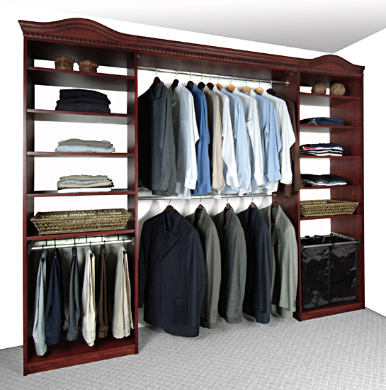 Solid wood closets inc receives rave reviews from the pros at the 2009 international builders - Hardwood closet organizers ...