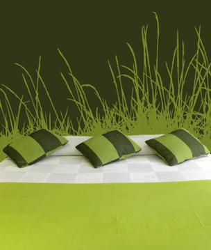 Chicago Interior Designer Jordan Guide Celebrates One Year - Wall decals grass