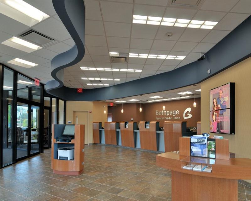 Bethpage Federal Credit Union Massapequa NY Branch Lobby Designed By JRS ArchitectPhoto Of BFCU Interior Mandell School