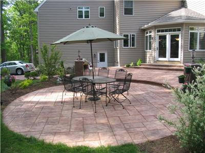 patio design with bbq