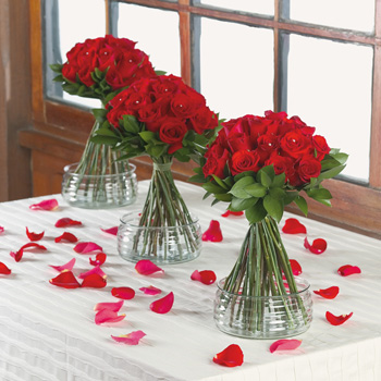 Red Rose Centerpieces