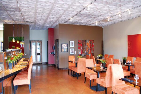 Ceilume Ceilint Tiles: Restaurant InstallationPetal Ceiling Tiles By  Ceilume Used In A Restaurant Installation.