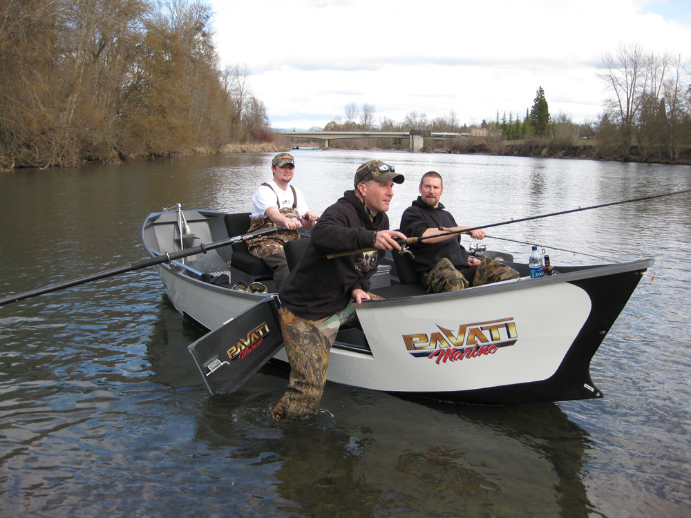Pavati boats has just released its newly designed drift boat for Drift boat fishing