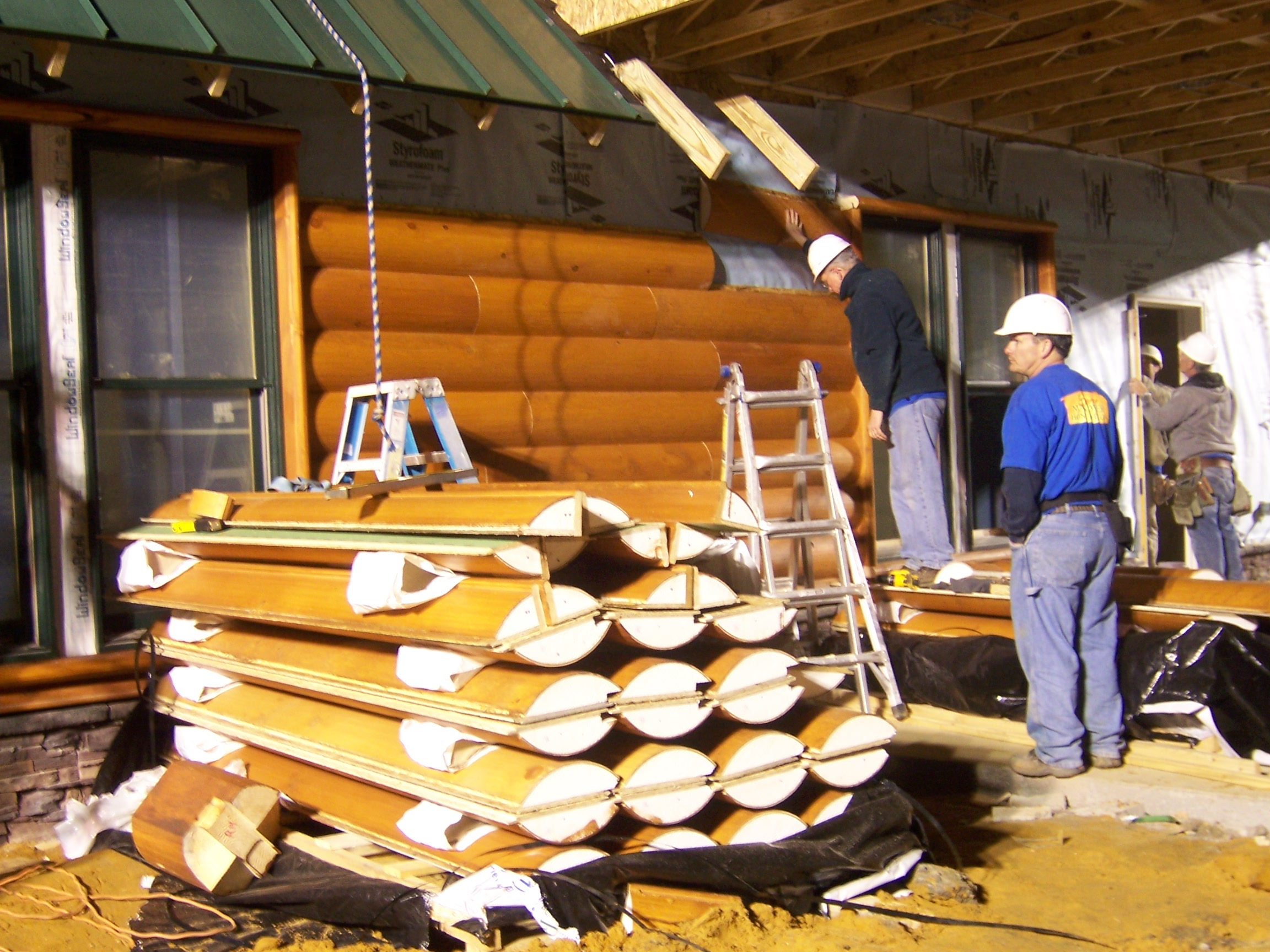 Abc 39 s extreme makeover home edition uses e log siding on E log siding