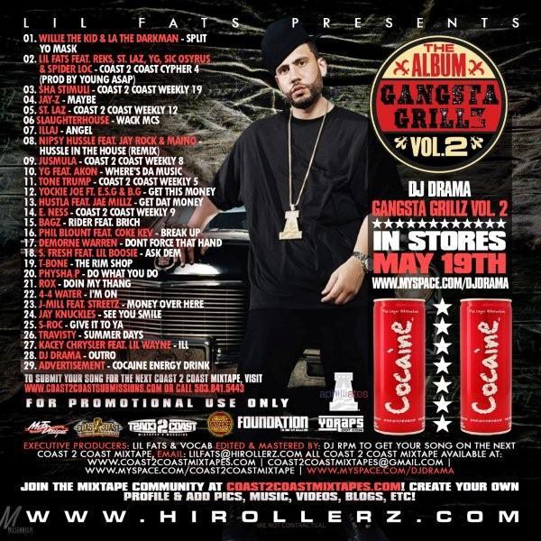 Dj drama mixtape cover back cover coast 2 coast mixtape vol 74 dj