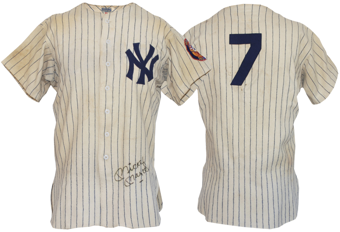 Earliest known autographed game-used Mickey Mantle jerseyMantle jersey ... e5f745c3df8