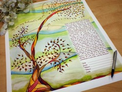 Autumn Tree Ketubah (jewish wedding contract)