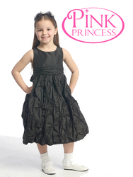Black Flower Girl Dresses - Pink Princess