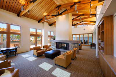 New community center captures the heart of generations for Central fireplace