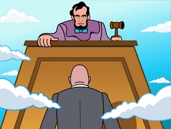 Abe Lincoln and My Pet Lawyer in his first cartoon webisode
