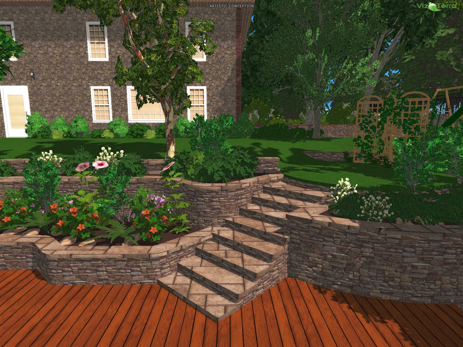 Indi scaping design design your own backyard landscape for Garden design 3d online