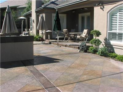 Lovely Resurfaced Concrete Patio Features Coloring. Photo Courtesy Of Richardsonu0027s  Concrete Coatings.