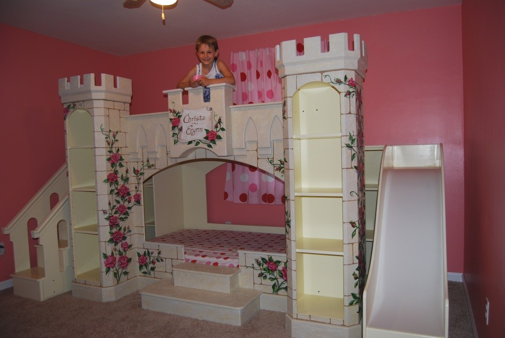 Make a wish foundation and sweet dream theme beds grant girls wish of a fairy tale princess - Unique girls bunk beds ...