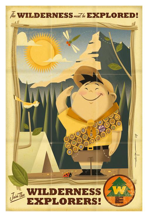 New Artwork from Disney • Pixar's UP
