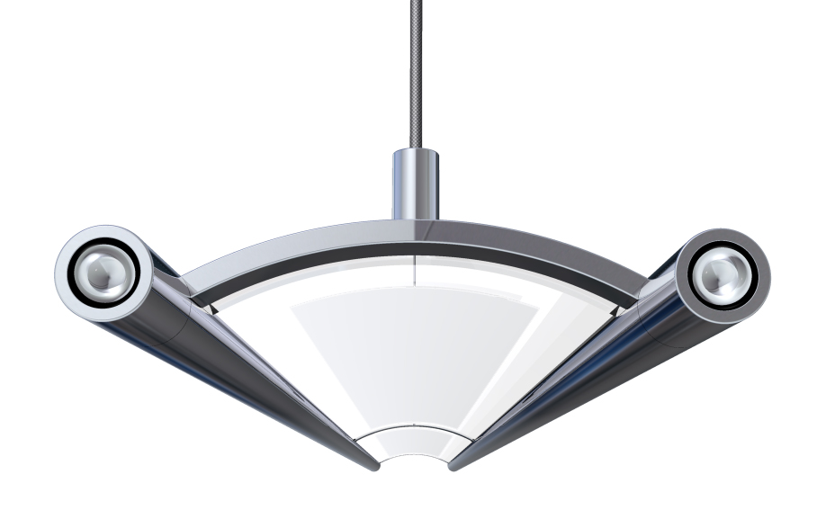 Led suspended luminaire designed by peerless lighting wins for Suspente luminaire