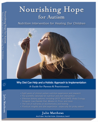 Cover: Nourishing Hope for Autism, by Julie Matthews