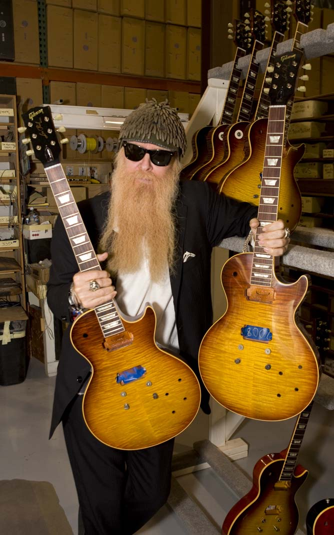gibson custom and zz tops billy gibbons create the
