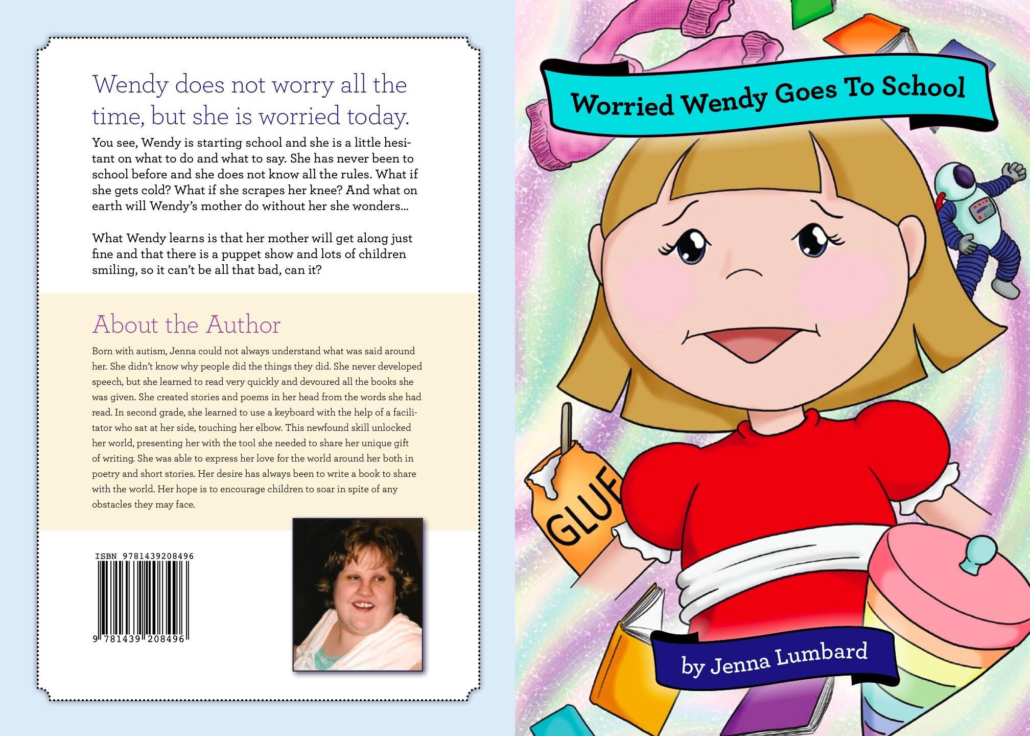 Children S Book Front And Back Cover : Despite autism new author writes children s book with