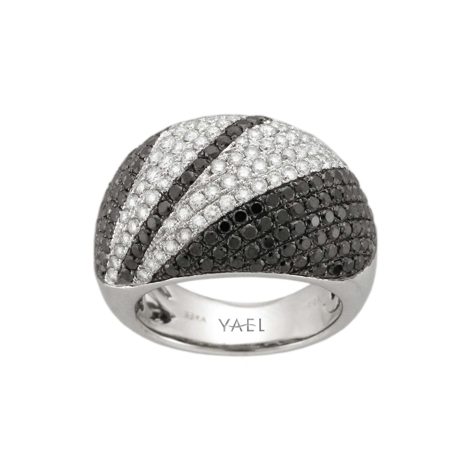 Black And White Diamond Bow Ring Laura Williams