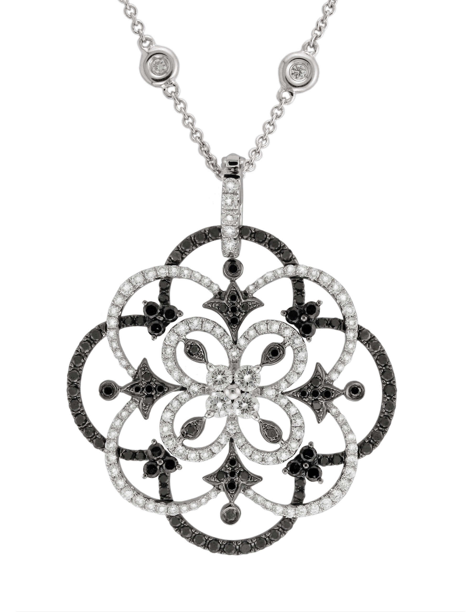 Back in black fine jeweler yael designs releases a new black and black and white diamond pendant was inspired by the abstract art of the middle east and white diamond pendant from yael designs mosaic collection audiocablefo