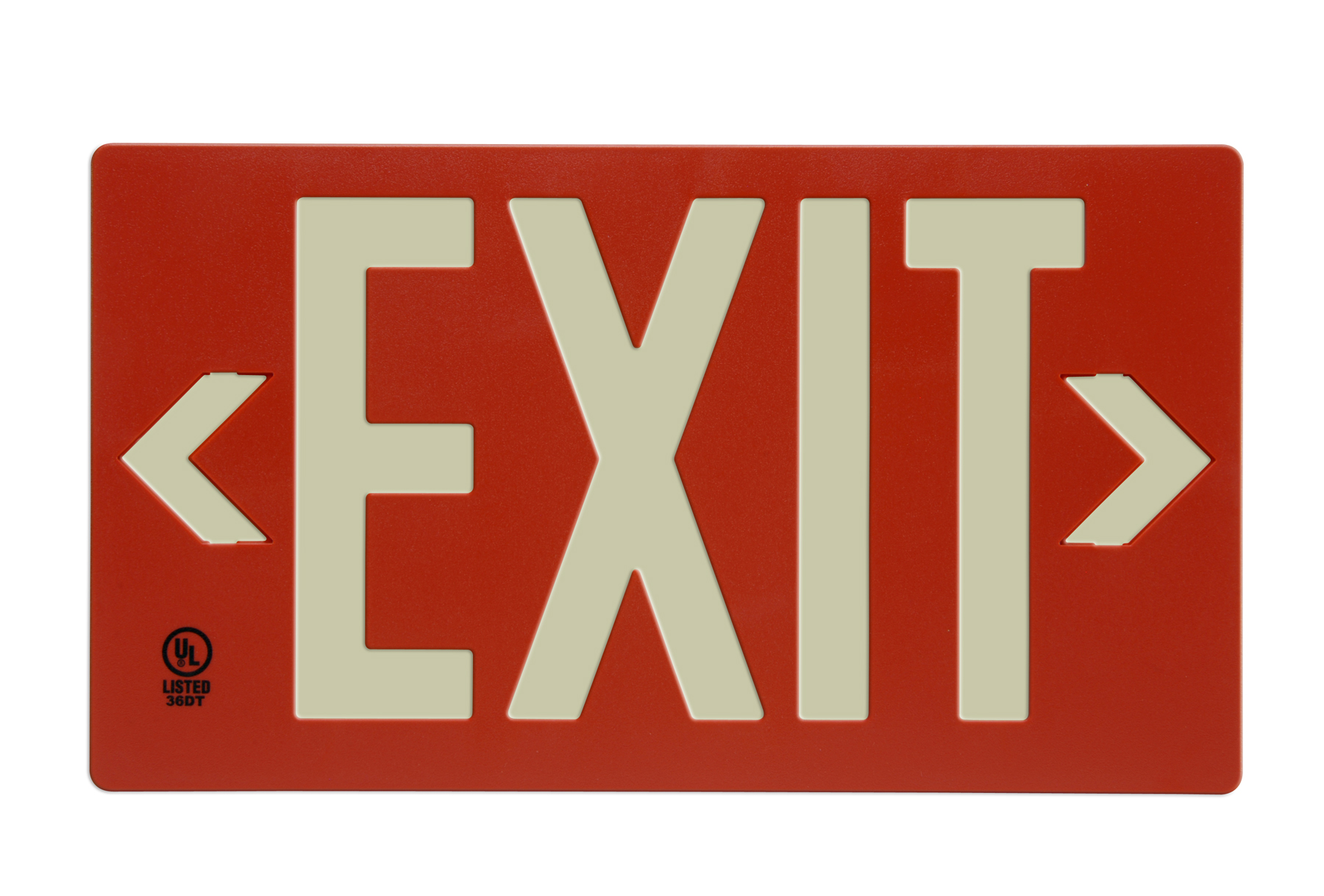 glo brite eco exit signs photo luminescent eco exit signs are visible