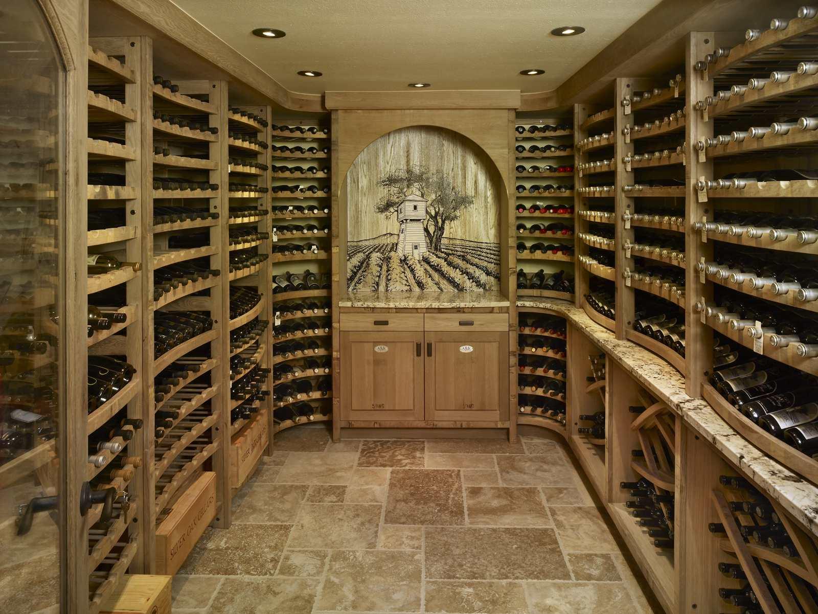 Recycled Wine Barrels - Eclectic - Wine Cellar - Orange ...   Barrel Wine Cellar