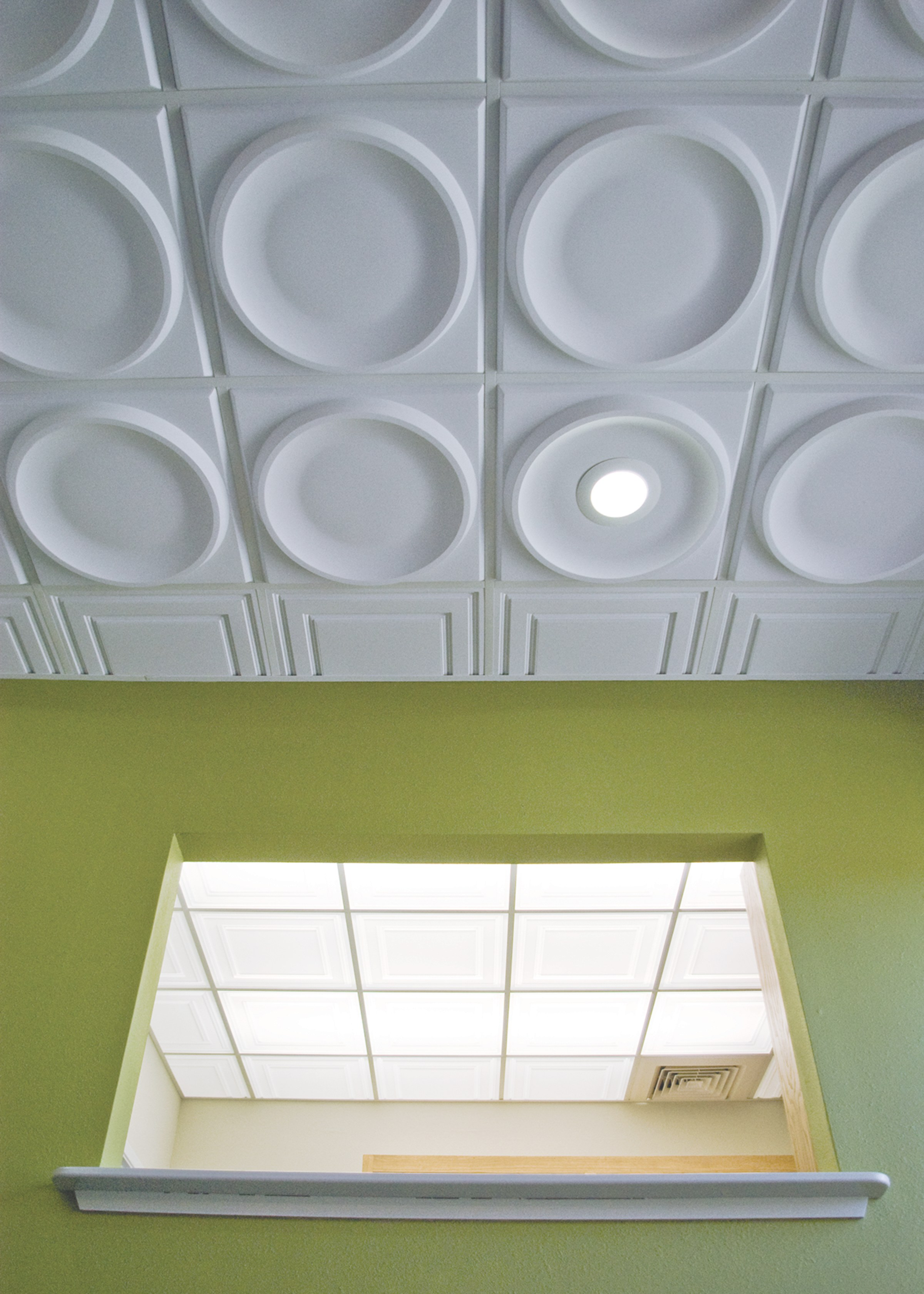 Hung ceiling tiles