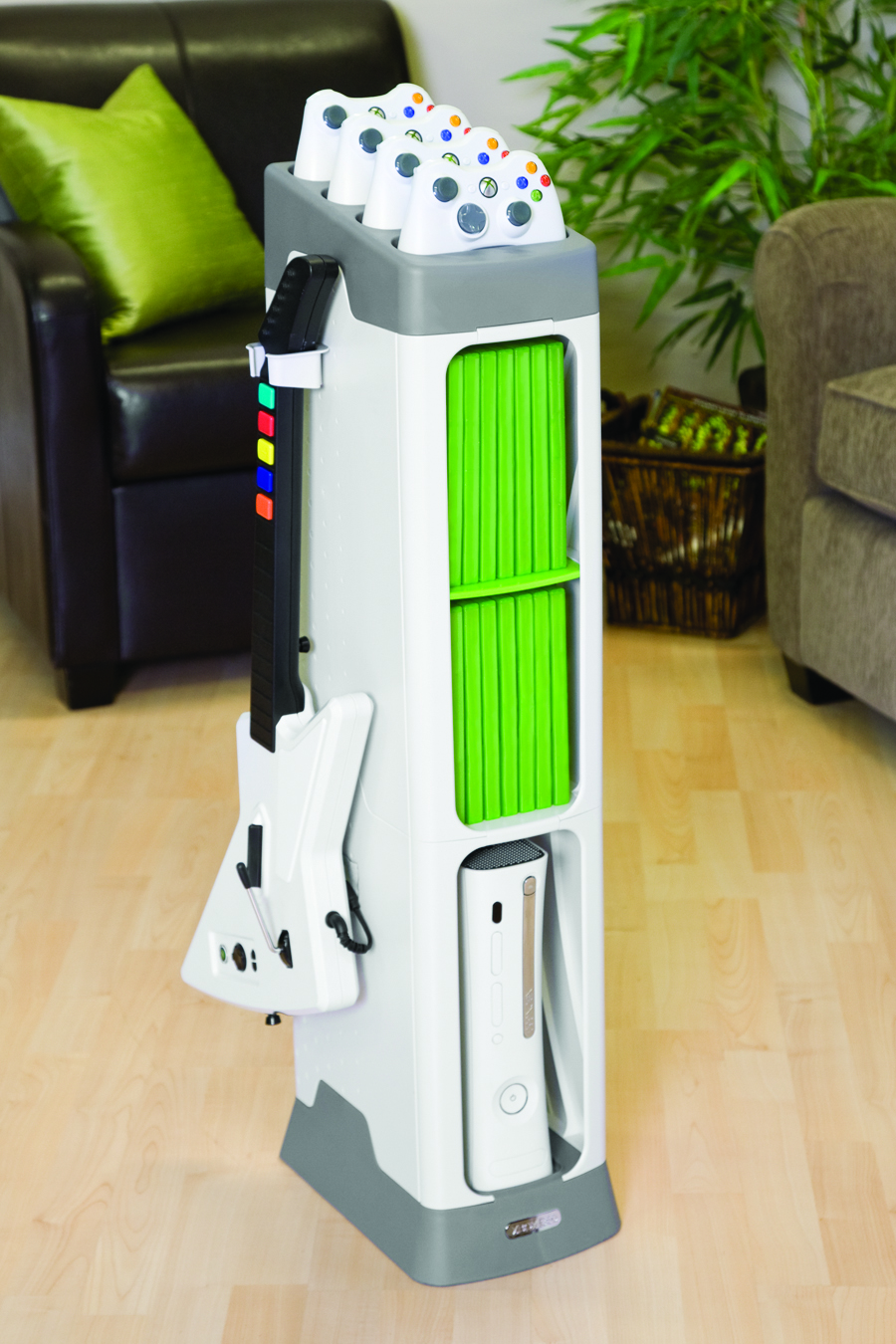 Xbox Generation Gaming Tower Is An All In One Storage Solution For Console And Accessories