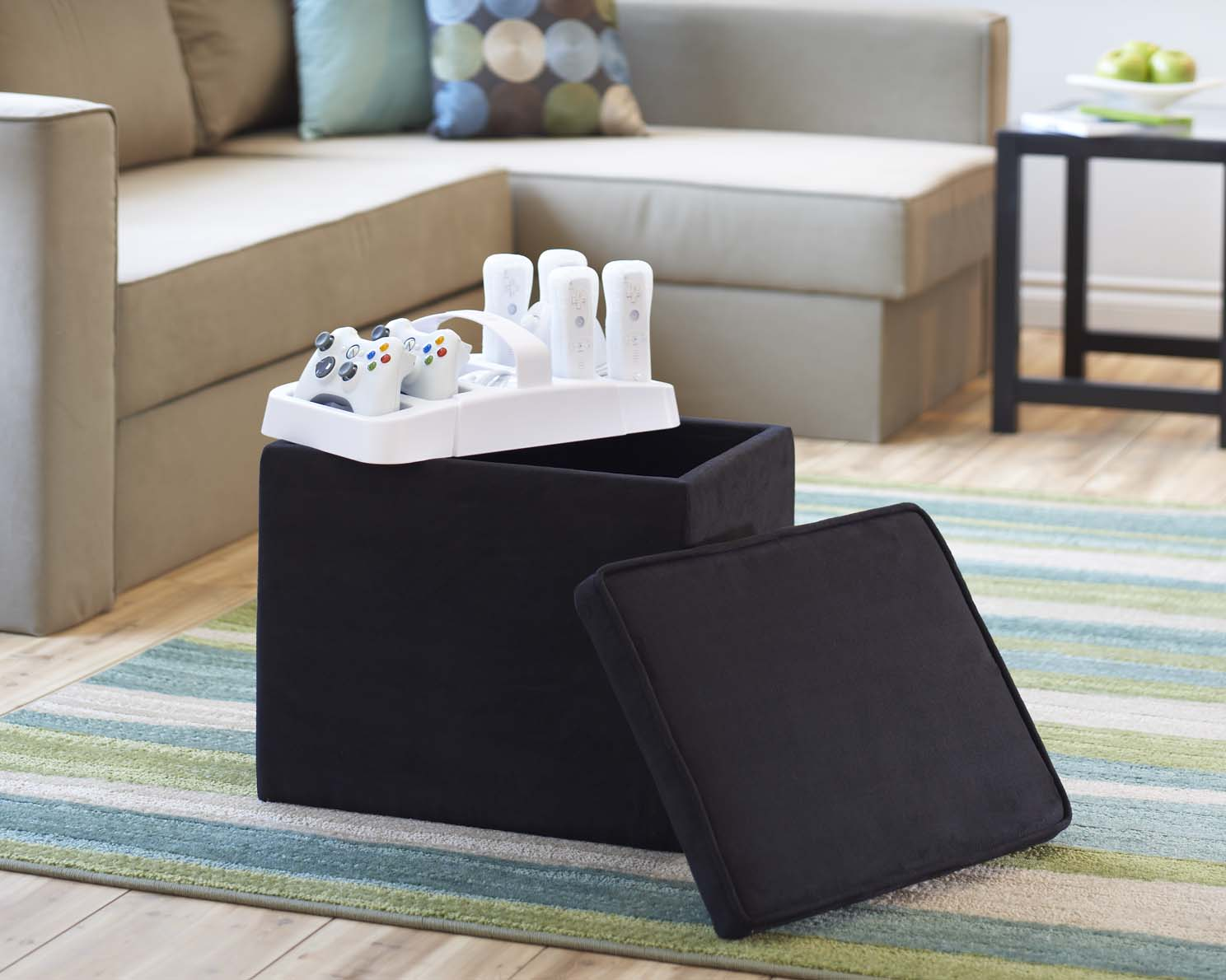 ... LevelUp Universal Double Gaming Ottoman is an all-in-one storage  solution for both Wii and Xbox consoles, games and accessories.universal  double - Slam Brands Introduces All-In-One Storage Solutions For Wii And