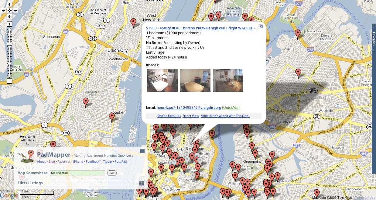 introducing padmapper com  a map